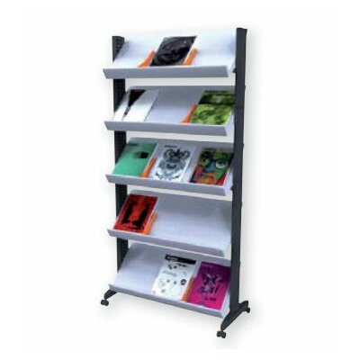 Paperflow X-Large Single Sided Literature Display in Grey