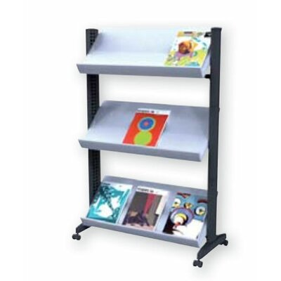 Paperflow X-Large Half-sized Single Sided Literature Display in Grey