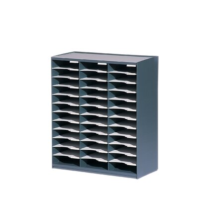 Paperflow Master literature Organizers with 36 Compartments in Charcoal