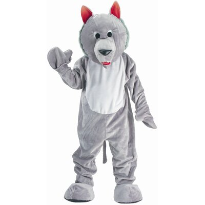 Hungry Wolf Mascot Adult Costume Set