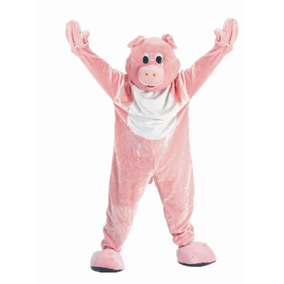 Dress Up America Adult Pig Mascot Costume Set