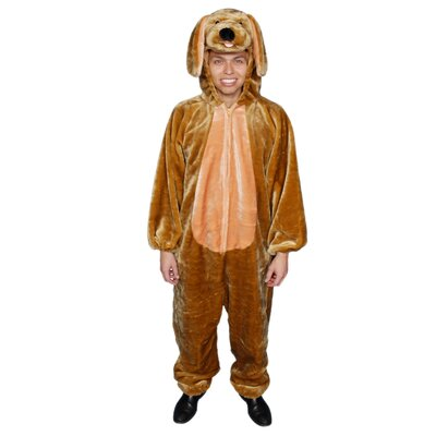 Adult Brown Puppy Plush Adult Costume