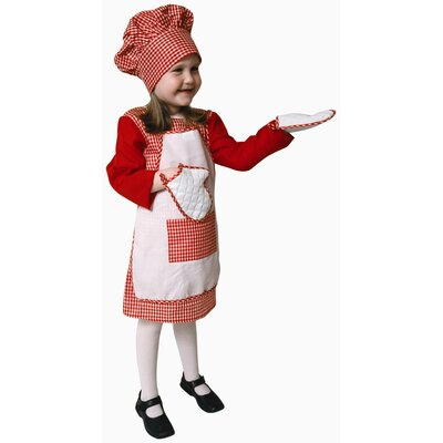 Red Gingham Girl Chef Children's Costume