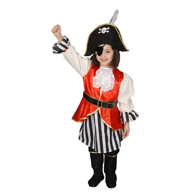 Deluxe Pirate Girl Children's Costume Set