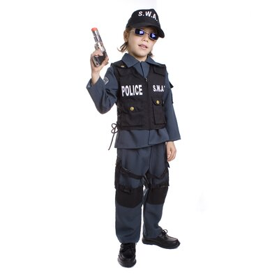 Dress Up America S.W.A.T Police Officer Children's Costume