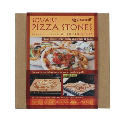 Pizza Craft Pizzacraft Square Mini Pizza Stone Tiles (Set of 4)