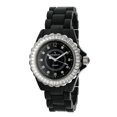 Women's Ceramic Swarovski Dial Watch in Black