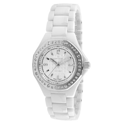 Women's Swarovski Crystal Dial Watch in White with Silver Tone Hand
