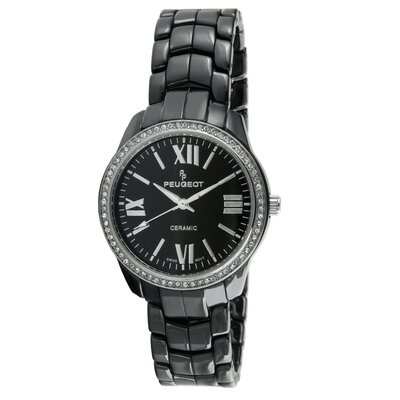 Women's Swarovski Dial Watch in Black