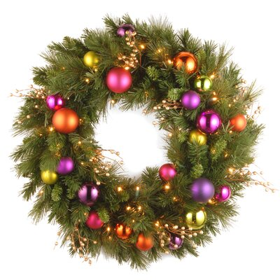 "National Tree Co. Pre-Lit 30"" Kaleidoscope Wreath"