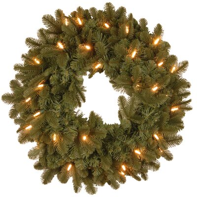 "National Tree Co. Noble Deluxe Fir Pre-Lit 24"" Wreath"
