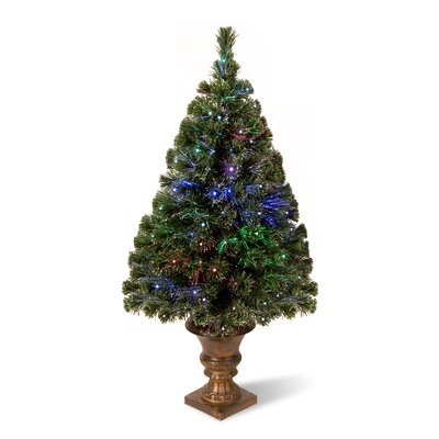 National Tree Co. Radiance 4' Green Artificial Christmas Tree with Multicolor LED Lights with ...