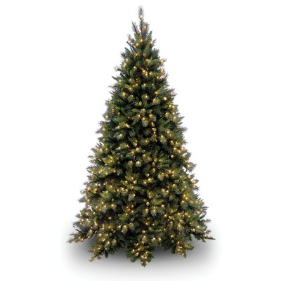 National Tree Co. Tiffany Fir 7.5' Green Artificial Christmas Tree with 700 Pre-Lit Clear ...