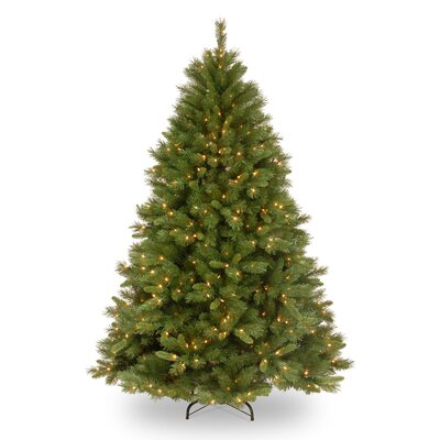 National Tree Co. Winchester Pine 7.5' Green Artificial Christmas Tree with 500 Pre-Lit Clear ...