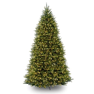 National Tree Co. Dunhill Fir 10' Green Artificial Christmas Tree with 1200 Pre-Lit Clear Lights with Stand