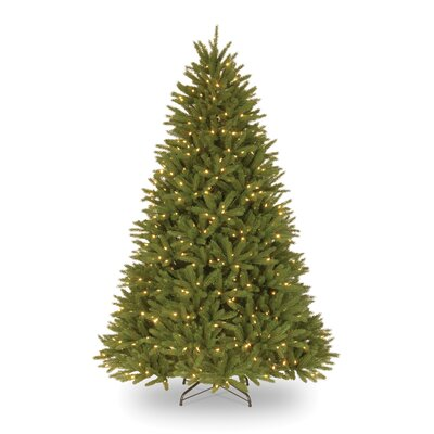 National Tree Co. Belmar Fir 7.5' Green Artificial Christmas Tree with 750 Pre-Lit Clear Lights ...