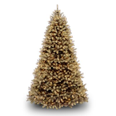National Tree Co. Douglas Fir Downswept 6.5' Beige Artificial Christmas Tree with Clear Lights ...