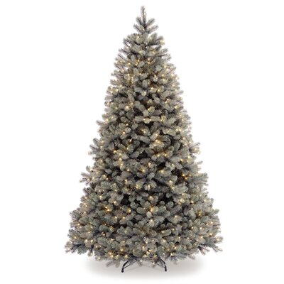 National Tree Co. Douglas 7.5' White Downswept Fir Artificial Christmas Tree with 750 Pre-Lit ...