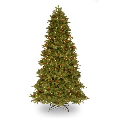 National Tree Co. Oakridge 7.5' Medium Green Artificial Christmas Tree with 650 Pre-Lit Clear ...