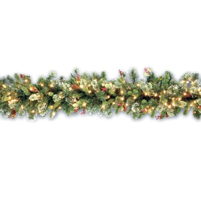 "National Tree Co. Wintry Pine Pre-Lit 9' x 12"" Garland"
