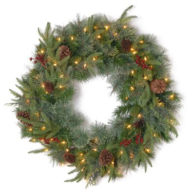 """National Tree Co. Colonial Pre-Lit 30"""" Wreath"""