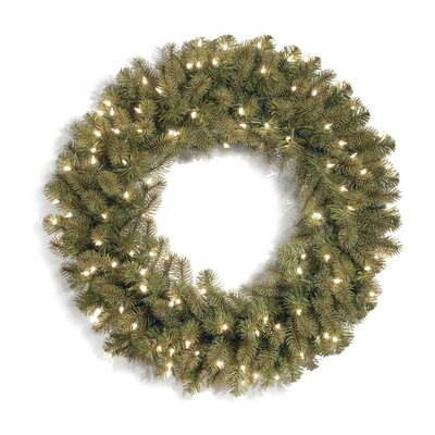 "National Tree Co. Douglas Pre-Lit 24"" Downswept Wreath"