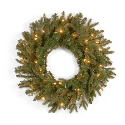 "National Tree Co. Tiffany Fir Pre-Lit 24"" Wreath"