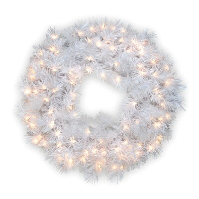"National Tree Co. Pre-Lit 30"" Wispy Willow Grande Wreath"