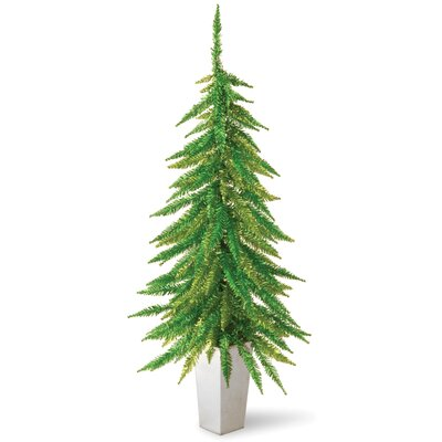 "National Tree Co. Downswept 2' 6"" Tinsel Green Artificial Christmas Tree"