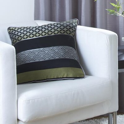 Dreams 'N' Drapes Curtina Newton Single Cushion Cover in Black