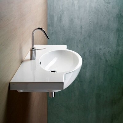 Panorama Modern Stylish Design Curved Wall Mounted Bathroom Sink - GSI 662211
