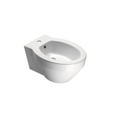 GSI Collection Losagna Contemporary Round White Ceramic Floor Bidet