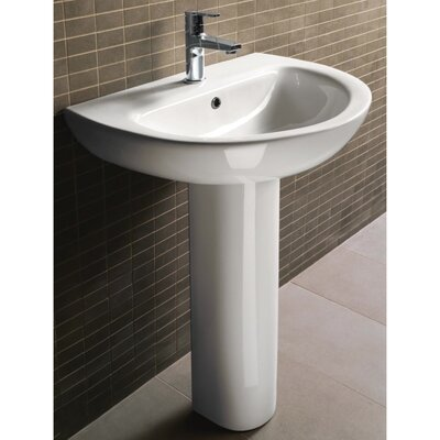City Modern Curved Pedestal Sink - GSI MCITY3012