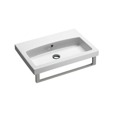 GSI Collection Losagna Rectangular Stylish Ceramic Bathroom Sink