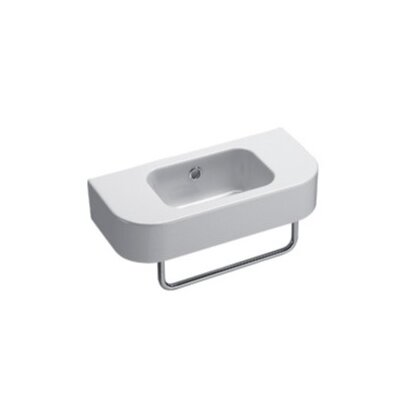GSI Collection Traccia Contemporary Curved Wall Hung Bathroom Sink