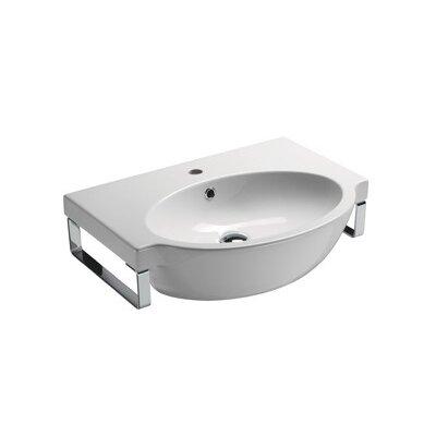 Curved Bathroom Sink : Panorama Modern Curved Wall Mounted Bathroom Sink Wayfair