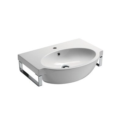 Panorama Modern Curved Wall Mounted Bathroom Sink - GSI 663211