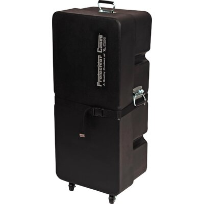 Gator Cases Upright Molded PE Drum Accessory Case with Wheels