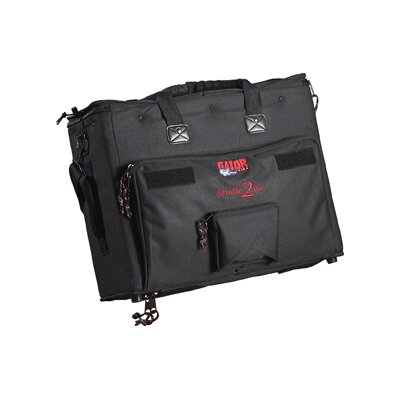 Laptop and 2-Space Audio Rack Bag
