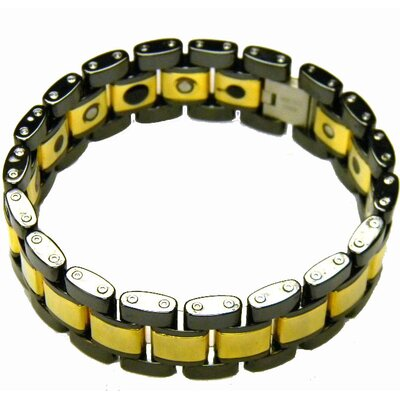 Obsessed Black and Gold Tungsten Men's Bracelet
