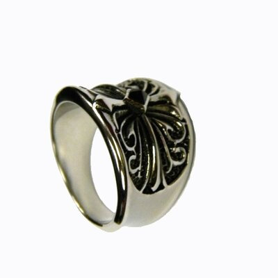 Obsessed Gothic Cross Steel Ring