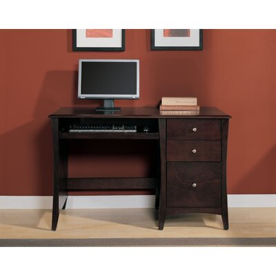 Altra Furniture Single Pedestal Computer Desk with 2 Box Drawers