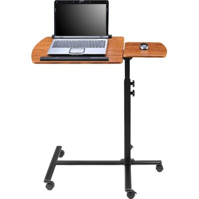 Altra Furniture Laptop Cart in Cherry and Black