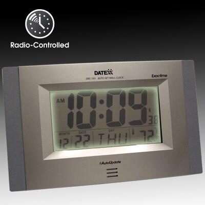 Datexx Radio Control Wall Clock with LCD Calendar, Temperature at Sears.com