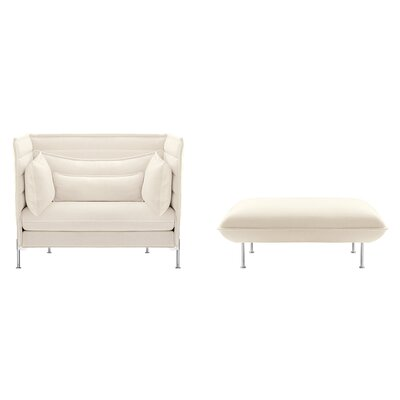 Vitra Alcove Love Seat and Ottoman by Ronan and Erwan Bouroullec 2 Piece Set
