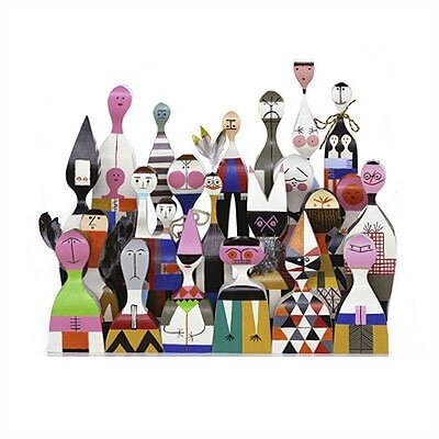 Vitra Wooden Dolls Set by Alexander Girard