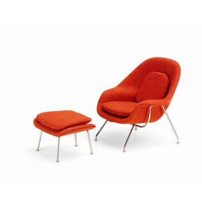 Vitra Miniatures Womb Chair and Ottoman by Eero Saarinen