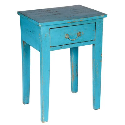 Handpainted Stool with Drawer