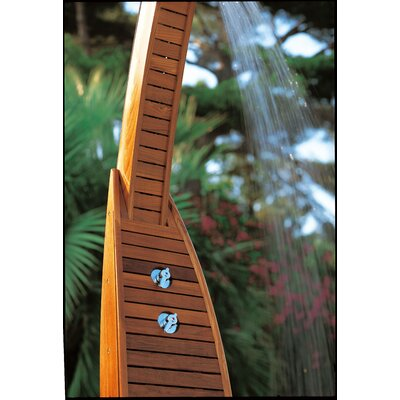 Les Jardins Teak Emoe Shower Frame with Duck Board