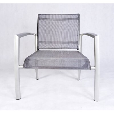 Les Jardins Out of Blue Elysun Low Lounge Armchair in Silver with Grey Sling